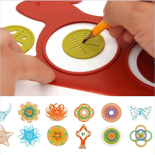 Magic Turtle Rabbit Spirograph Design Set Creative Educational Kids Drawing