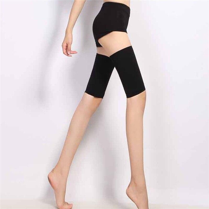 Nude/Black New Fashion Thin Thigh Leg Shaper Burn Fat Socks Compression Stovepipe Leg Warmer Slimming Thigh Wrap Control Body 2