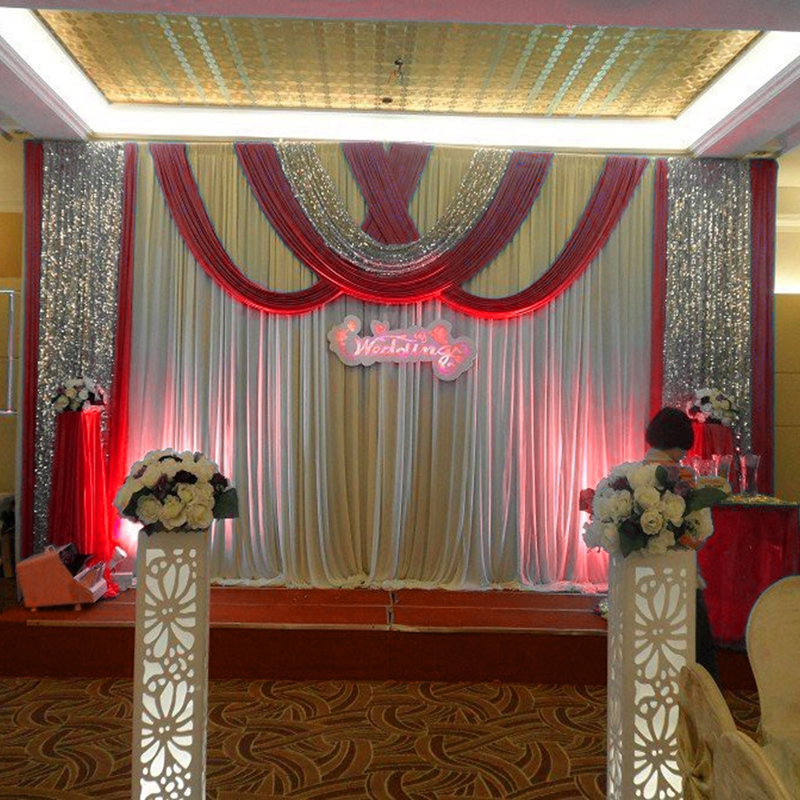 2016 New Wedding Backdrop Curtain With Swag Wedding Drapes Event