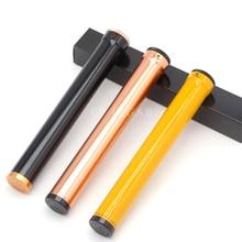 Metall Tragbare Zigarre Rohr Aluminium Reise Luftbefeuchter Rohr Zigarrenhalter Mini Zigarre Rohr