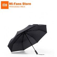 Xiaomi parapluie Automatique Ensoleillé Pluvieux Bumbershoot En Aluminium Coupe Vent Imperméable À Leau UV Parasol Homme femme Été Hiver Pare Soleil