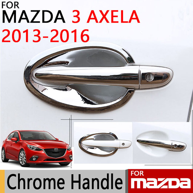 For Mazda 3 2013 2016 Accessories Chrome Door Handle Axela 2014 2015 Sedan  Hatchback Luxury
