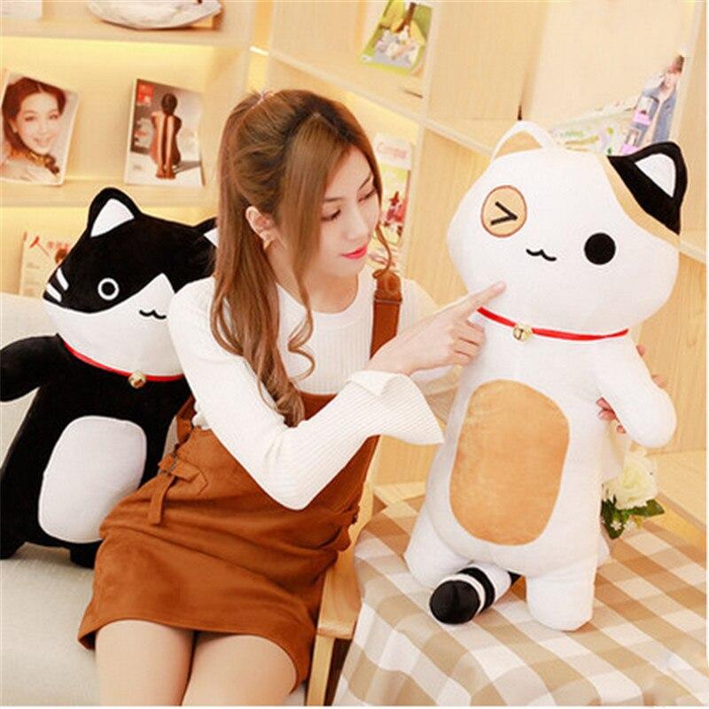 Fancytrader 80 cm peluche douce géante oreiller pour chat jouet une pièce Natsume Yuujinchou Nyanko Sensei coussin pour chats