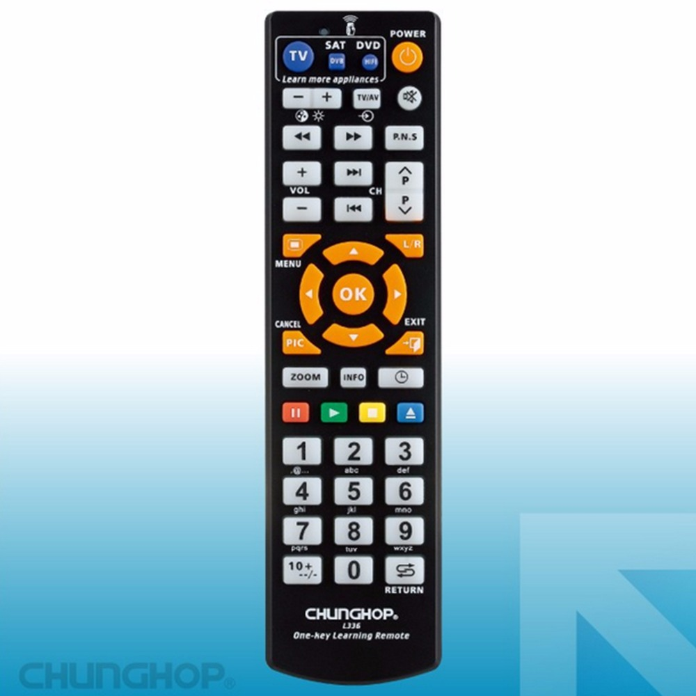 Universal Smart Remote Control Controller With Learn Function For TV CBL DVD SAT CHUNGHOP Original Product L336 chunghop rm l14 universal smart remote control with learn function for tv cbl dvd sat dvb controller copy