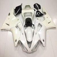 Pour Yamaha YZF R1 2000 2001 Non Peint Blanc Injection Carénage Carrosserie Kit Plastique ABS Moto Pièces