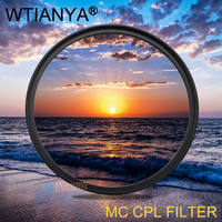 WTIANYA 95mm MC CPL Filter PL CIR Polarizing DMC Multi Coating Filter for DLSR 95mm lens for Nikon Canon Pentax Sony DSLR Camera