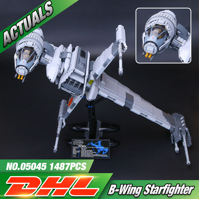 DHL Lepin 05045 Star Toys Wars The 10227 B-Wing Star fighter Set Building Blocks Bricks Kids Toys Model Christmas Birthday Gifts 482pcs star space the ja quadjumper set model building blocks bricks toys kids gifts compatible legoings star series wars 75178