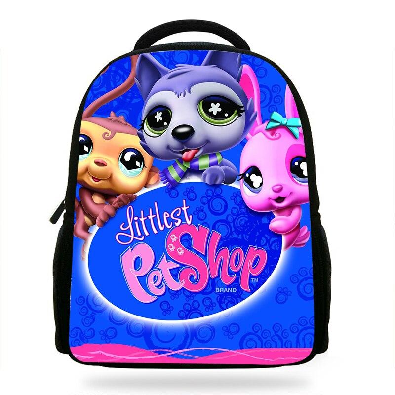 Student Toddler Littlest Pet Shop Bag Girls CuteBackpacks Rucksack For Teenager  Cartoon Schoolbags Travel Bagpack Female