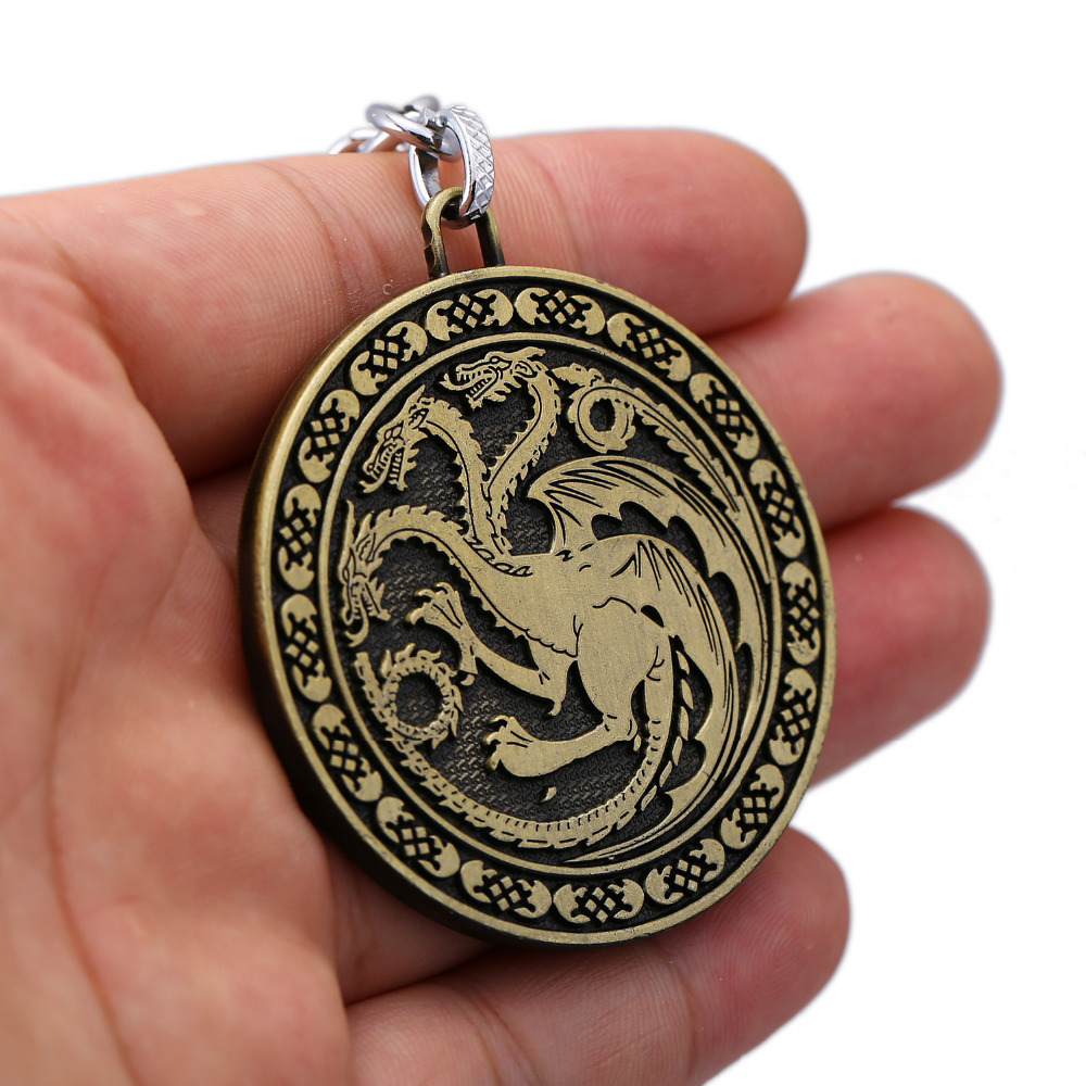HSIC Brand Game of Thrones Keychain Song of Ice and Fire Targaryen Key Ring Alloy Pendant Lannister Key ring Unisex Souvenir