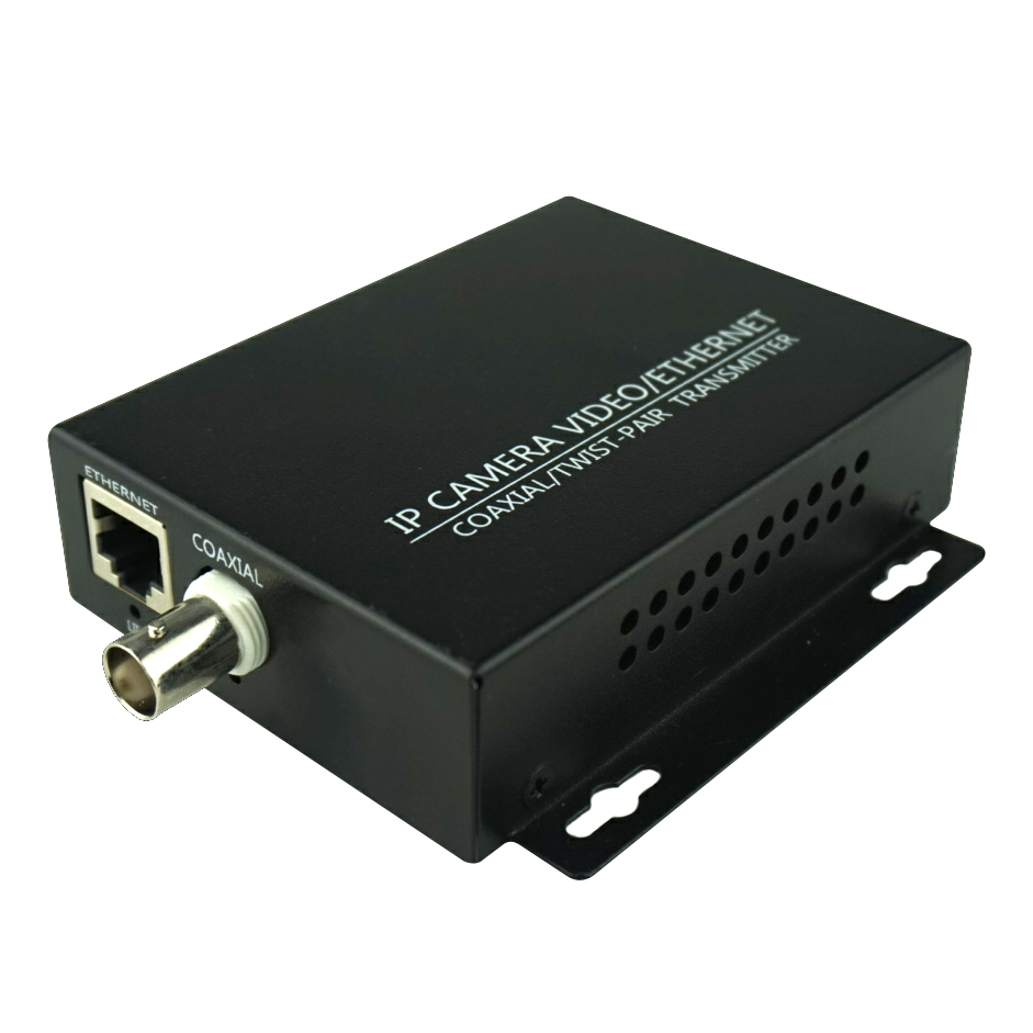 HD 1080P IP Network Coaxial Cable Video Transmission Extender Converter For CCTV System Up 2Km- 1PCS