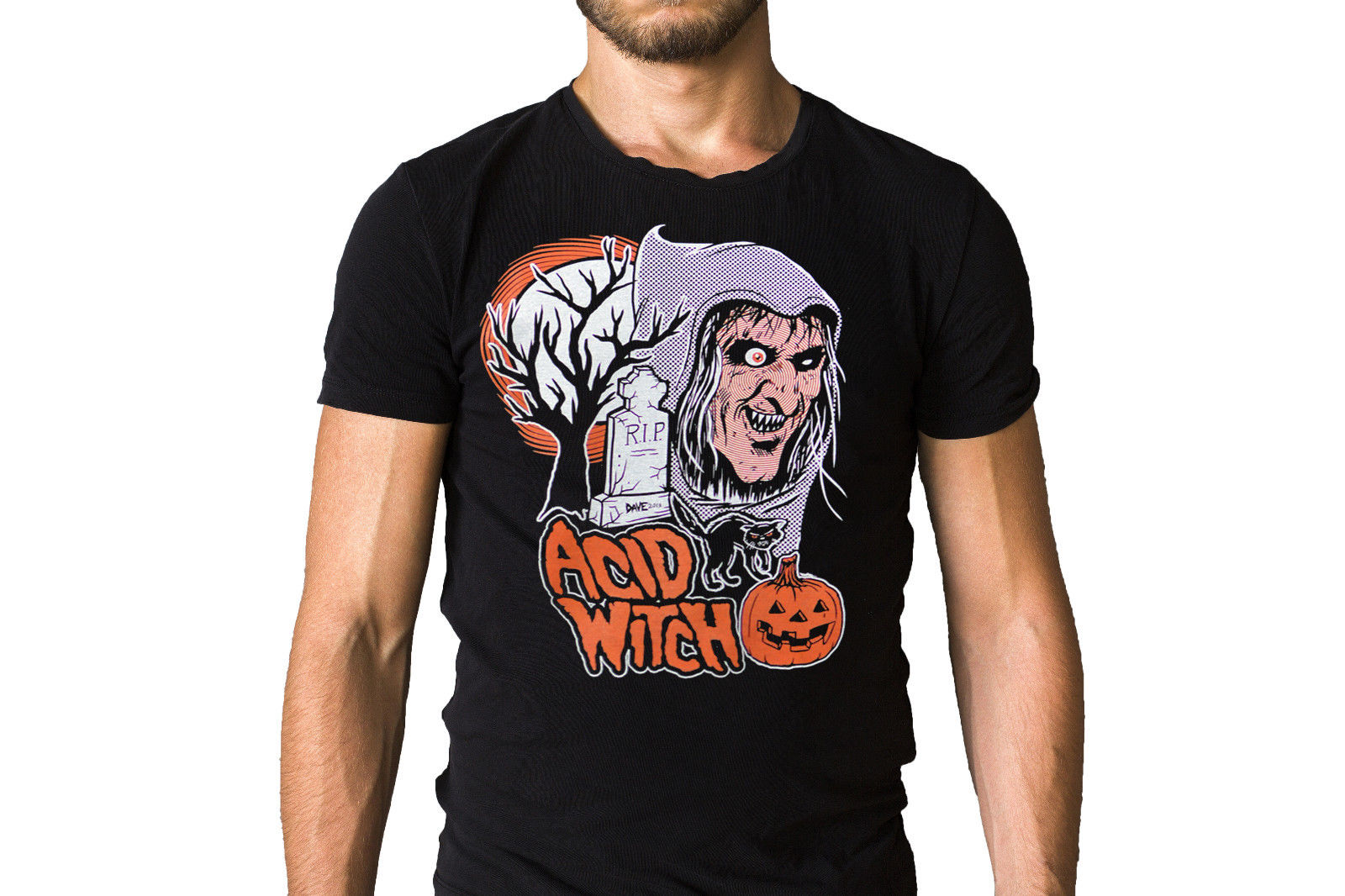 Acid Witch Trick Or Treat Song Halloween Inspired T-Shirt Cotton Low Price Top Tee For Teen Boys