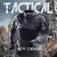 Mens Military Tactical Shirt Camouflage Summer Airsoft Painball Cotton T Shirt Us Army Combat multicam Military Uniform Shirt