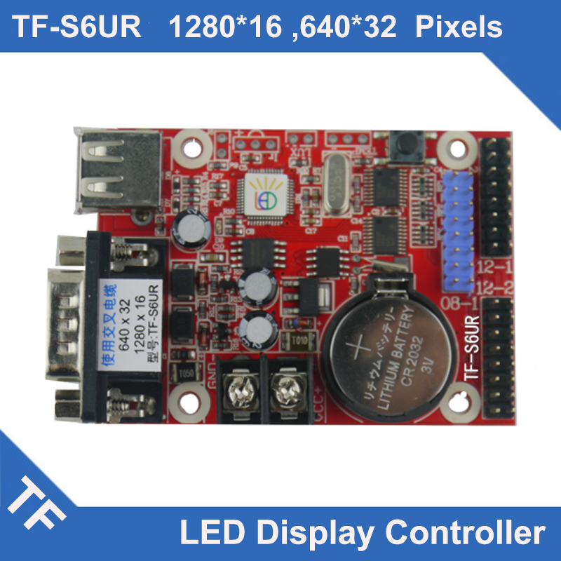 TF-S6UR TF Longgreat LED Display Control Card USB RS232 Serial Port Asynchronous Single Dual Color Rs232 Led Display Board