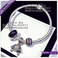 S925 Sterling Silver Three-piece bracelet Black Series Jewelry Sets women Charm Bracelets & Bangles Gift YL100-CP04