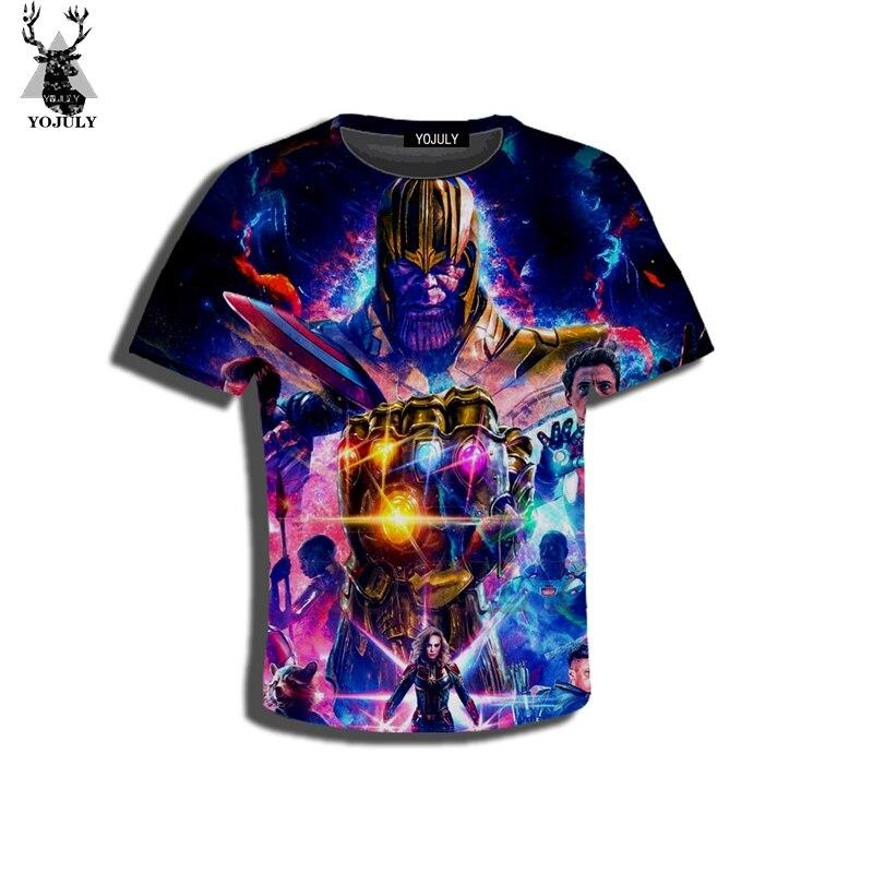 Yojuly 3d impressão crianças vingadores: final thanos capitão marvel filme crianças casual camiseta o-pescoço menino menina roupas 120-1