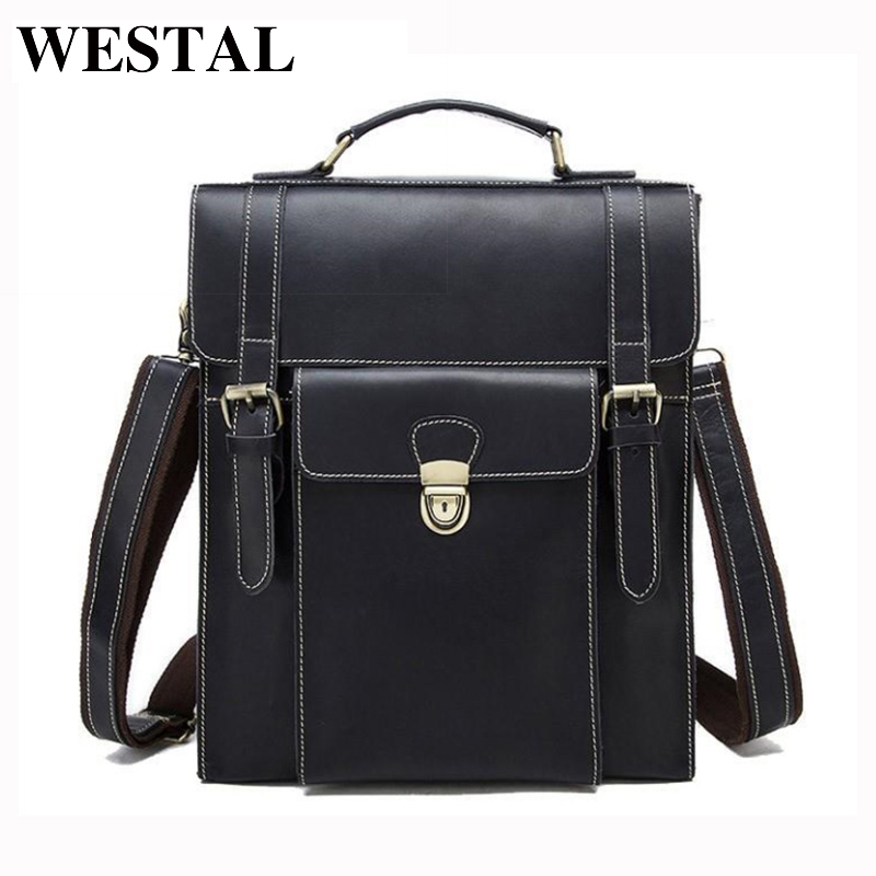 купить WESTAL Genuine Leather Men bag Casual Men's Briefcase Laptop Business Handbag Shoulder Men's Messenger Bag Men Travel bags 48748 по цене 5369.76 рублей