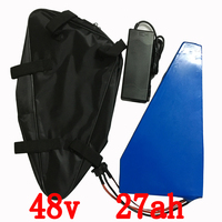 1000W 48V Triangle Battery 48V 27AH Electric Bike Lithium Battery Use Samsung Cell 3000mah With Battery