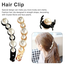 Women Girls Pearl hair jewelry Crystal Rhinestone Hairpins Mini Crown Hair Claw Vintage Retro Clips Cute Wedding Party Gift