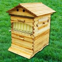 Новый пчелиный улей потока с 7 рамками автоматический мед самостоятельно твердый улей потока рамка пчеловодства оборудование пчеловода по