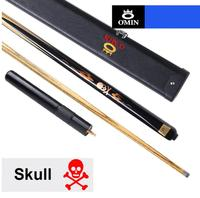 OMIN Skull Billiards 3/4 Snooker Cue 10mm Tip with Snooker Cue Case Set Ash Wood High Quality Professional Handmade China 2019