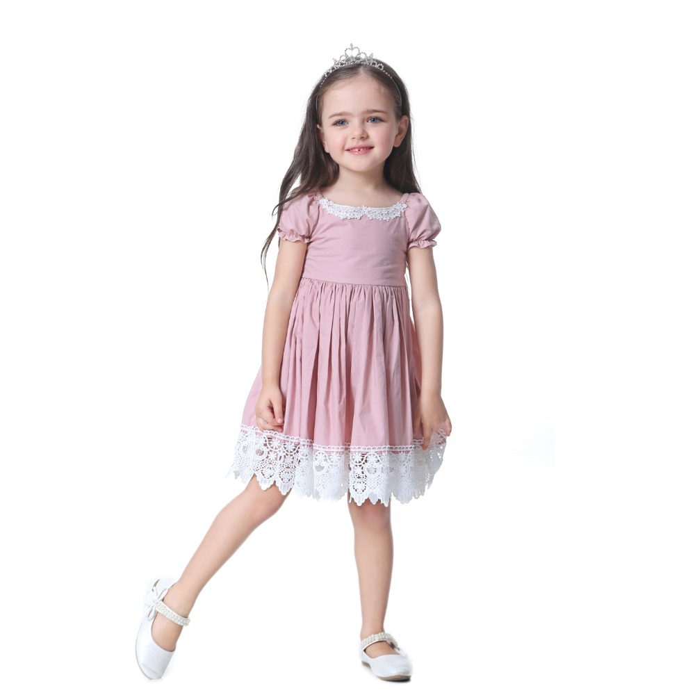 HTB1n0EObIic eJjSZFnq6xVwVXaJ - Toddler Girl Dress Solid Pink Lace Wedding Party Dress 2018 Brand Summer Princess Dresses Clothes Size 1-8 vestido infantil