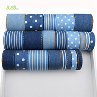 Chainho 21Yard Denim Ribbon Set High Quality For Diy Handmade Gift Craft Packing Hair Accessories Solid