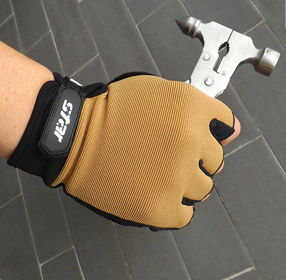 Men Antiskid Cycling Bike Gym Fitness Sports Half Finger Gloves Weight Lifting Sports Gloves