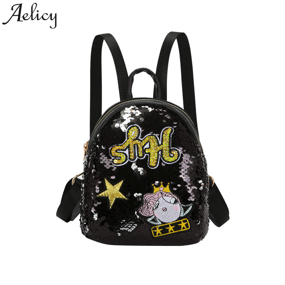 Detail Feedback Questions about Aelicy Luxury Brand Glitter Backpack Women Sequin  Backpacks Teenage Girls Bling Rucksack Gold School Bag Sequins mochila on  ...