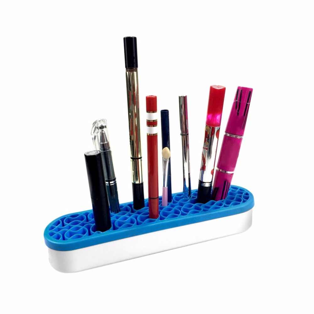 Silicone Makeup Brushes Storage Box Desktop Cosmetic Brush Organizer Lipstick Holders Make up Tool Accessories