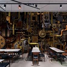 Mural de pared personalizado 3D Retro Industrial viento cafetería Bar restaurante telón de fondo pintura para pared de habitación Sala papel tapiz para habitación Mural