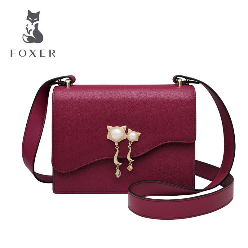 Cow leather handbag  2019 new wild leather shoulder bag Messenger bag fashion temperament small square bagCow leather handbag  2019 new wild leather shoulder bag Messenger bag fashion temperament small square bag