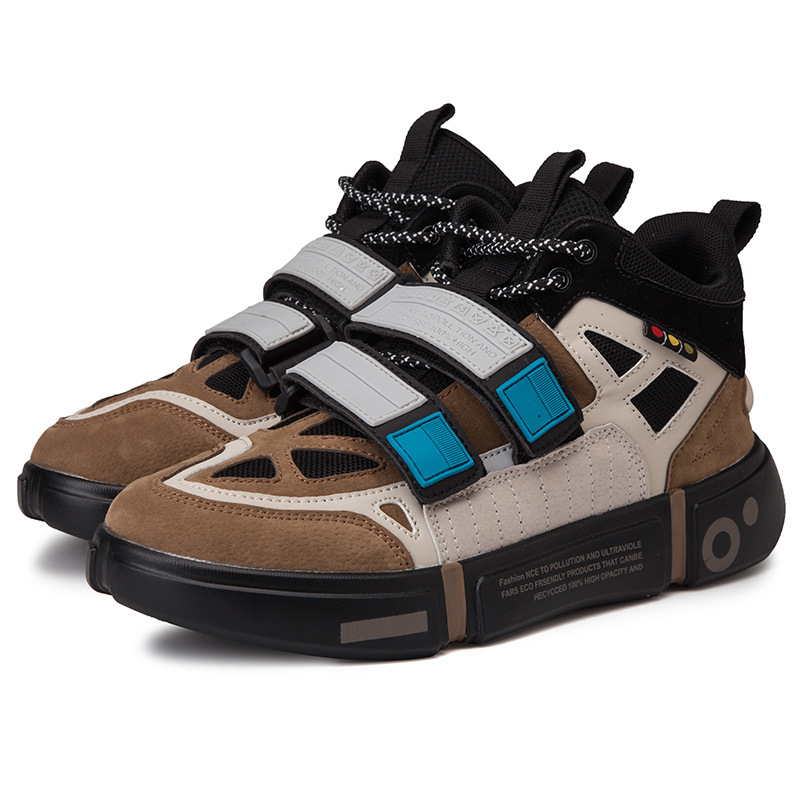 Hip Hop rétro automne Chunky baskets hommes respirant maille chaussures Kanye mode West crochet boucle Tenis Masculino Adulto papa baskets