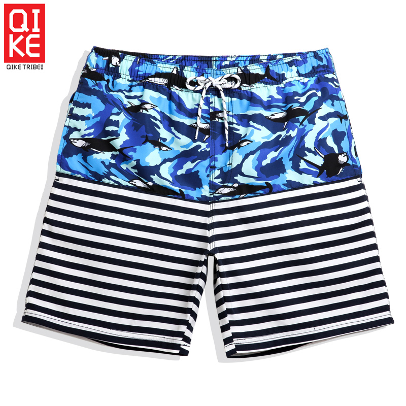 2019 beach mesh   shorts   bathing suit hawaiian sexy   board     shorts   quick dry joggers swimwear liner printed breathable