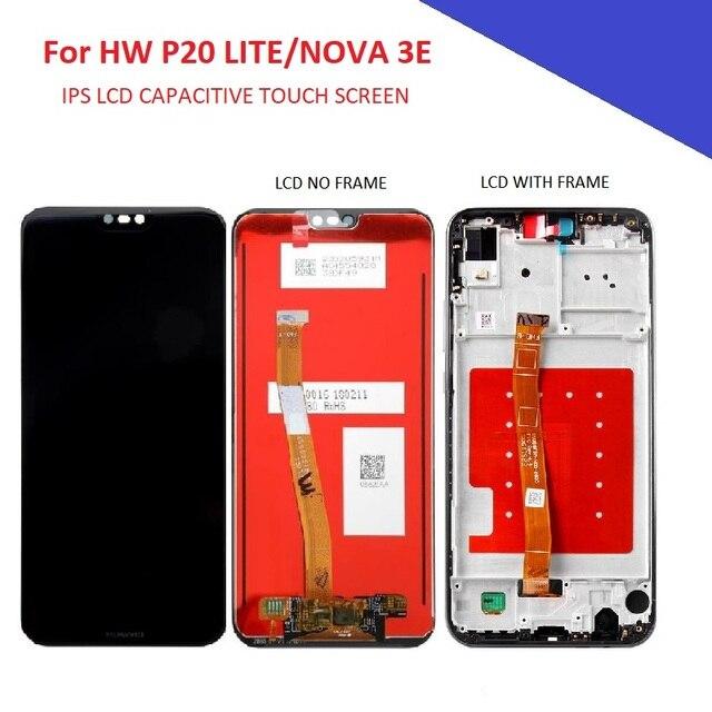 5.84 'תצוגת LCD עבור Huawei P20 לייט/נובה 3E LCD מסך מגע פנל הרכבה חלקי טלפון נייד p20 לייט/נובה 3E