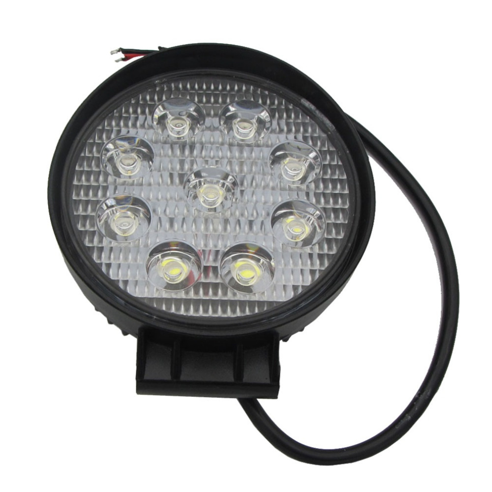 1Pcs 27W LED Work Light 12V IP67 Spot/Flood Fog Light Off Road ATV Tractor Train Bus Boat Floodlight ATV UTV Work Light