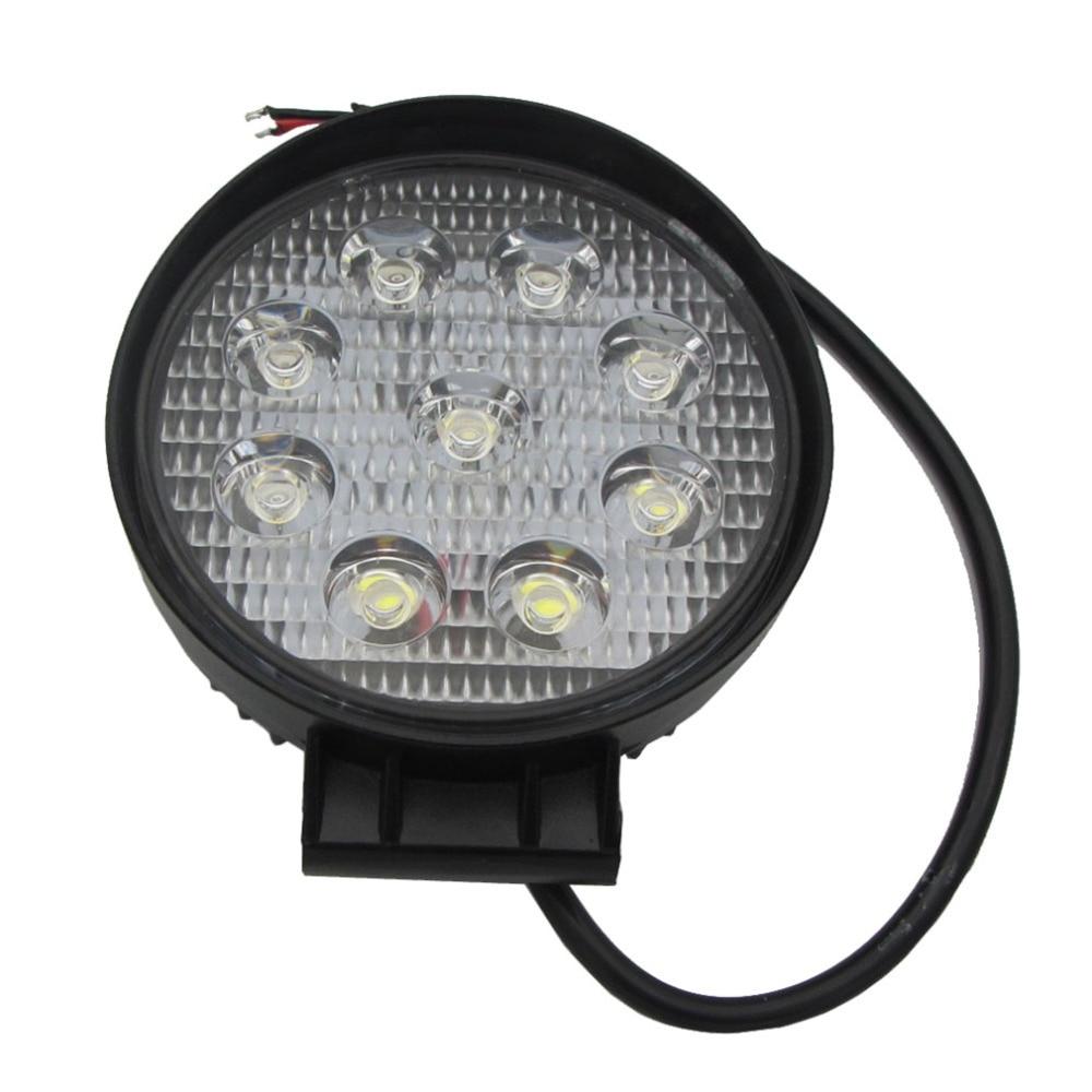 1Pcs 27W LED Work Light 12V IP67 Spot/Flood Fog Light Off Road ATV Tractor Train Bus Boat Floodlight ATV UTV Work Light