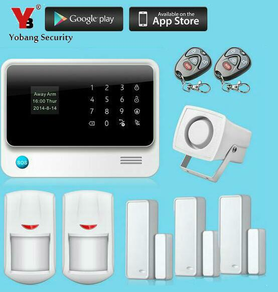 Yobang Security-Wifi Wireless GSM Alarm Menu Screen 433MHZ Home Burglar Security Alarm System Detector Sensor APP Control hot screen touch wireless gsm home security burglar alarm system with mobile app control free shipping