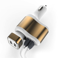 100 Genuine Brand Universal 2 Port Car Charger USB Car Charger 2 4A Plug Adapter For