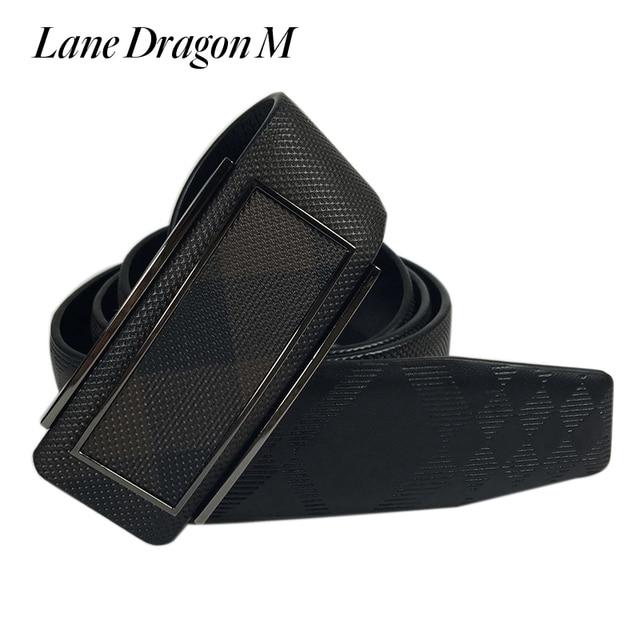 [Lane Dragon M] New Designer Belts Men High Quality Plaid Genuine Leather Belts For Men Fashion Brand Mens Belts Luxury D0014