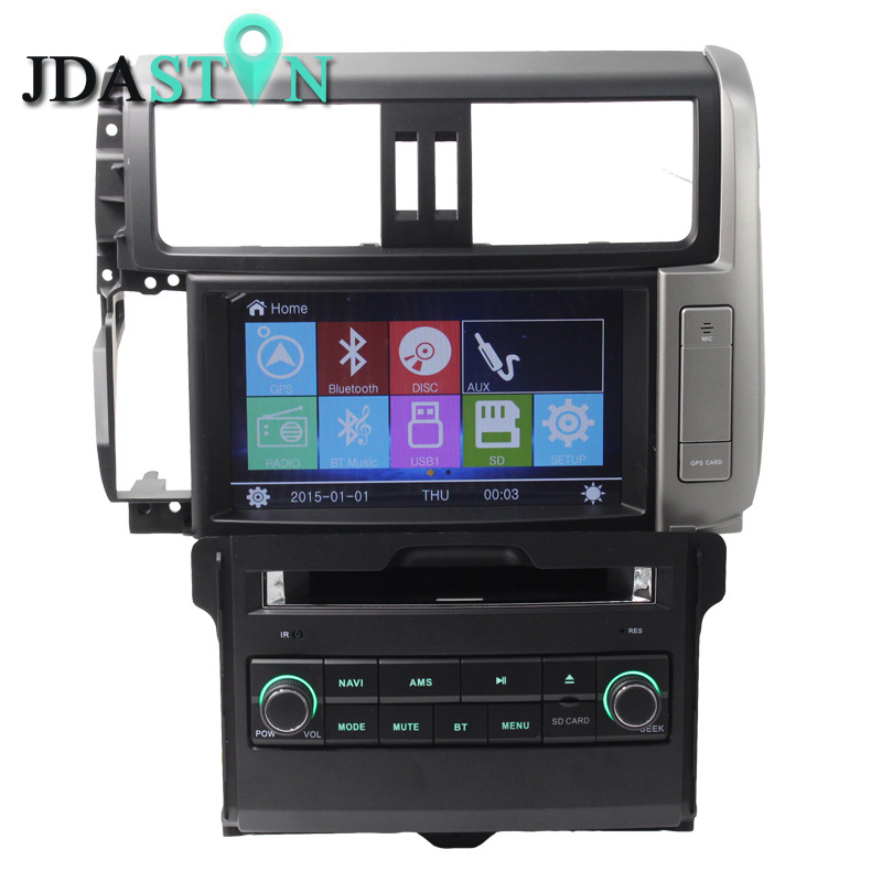 JDASTON <font><b>2</b></font> <font><b>Din</b></font> In-Dash <font><b>Car</b></font> DVD Player <font><b>For</b></font> <font><b>Toyota</b></font> Land cruiser <font><b>Prado</b></font> <font><b>150</b></font> 120 <font><b>2010</b></font> 2011 2012 2013 Navigation GPS TV Audio <font><b>Radio</b></font> BT image