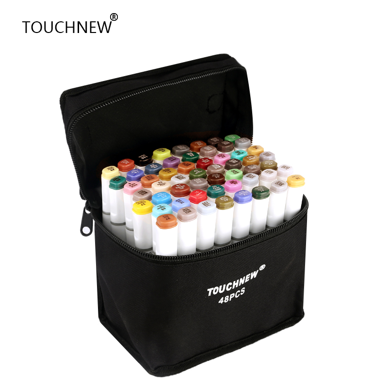 TOUCHNEW 30/40/60/80/168 Colors Artist Dual Head Sketch  Markers Set For Manga Marker School Drawing Marker Pen Design Supplies touchnew 36 48 60 72 168colors dual head art markers alcohol based sketch marker pen for drawing manga design supplies