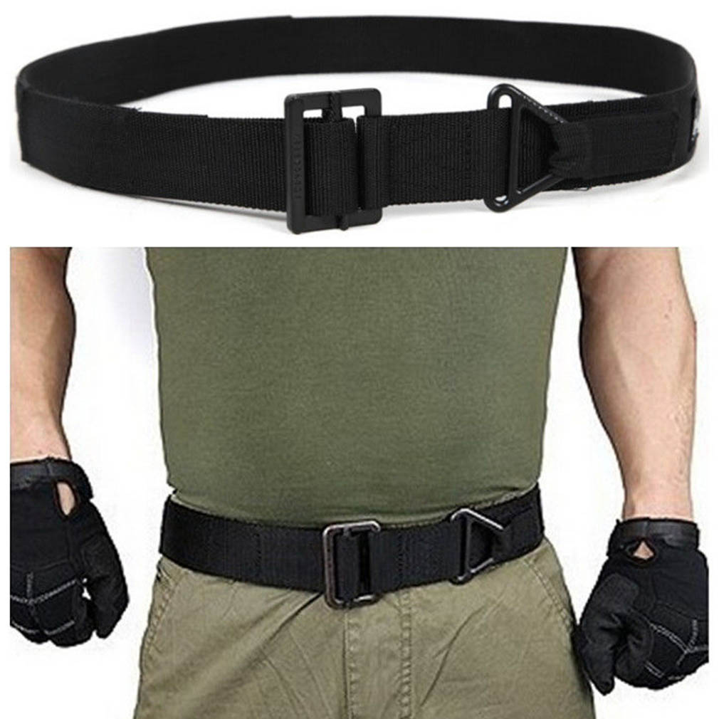 Adjustable Survival Tactical Belt Emergency Rescue Rigger Militaria CQB for Hunting Wais ...