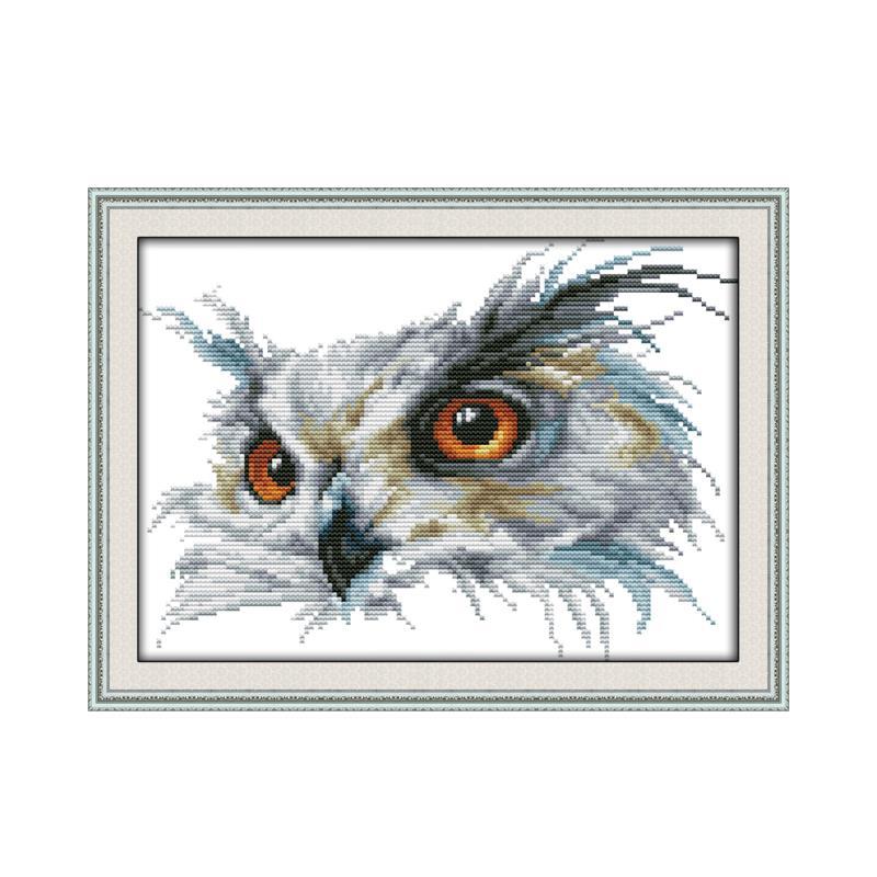 Серия животных Сова, крест набор стежков, ручная работа DIY печать вышитая ткань швейная Вышивка ремесла висячая картина