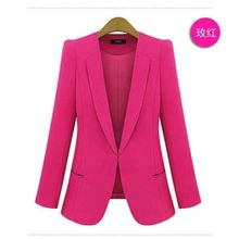 цена на Brieuces new Ladies Feminino Plus Size XS-5XL Formal Jacket Women's White Blaser Rosa Female Blue Women Suit Office Ladies