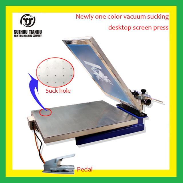 1 Color Vacuum Sucking Desktop Screen Printing Machine With Micro Registrationall In