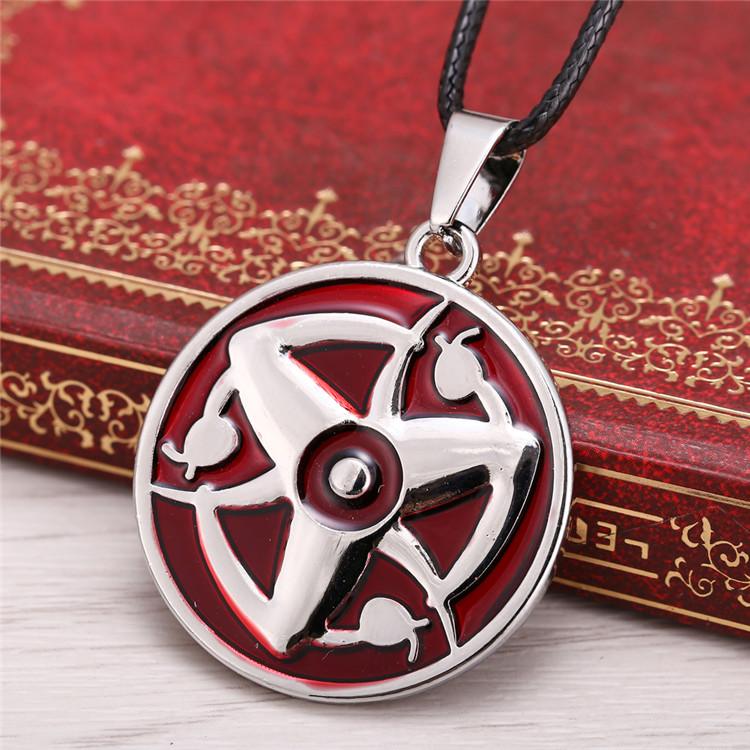 Movie jewelry NARUTO series Alloy plating necklace Anime Sharingan Uchiha Itachi Collector 2015 Hot Anime jewelry Naruto pendant image