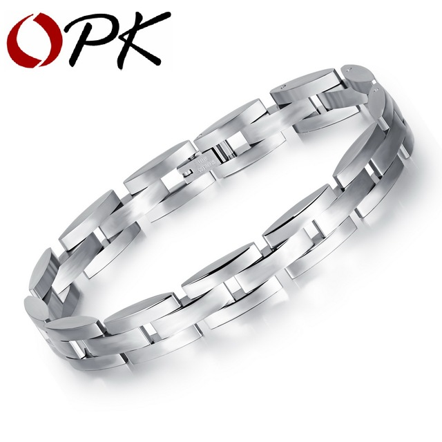 OPK Cool Mans Link Chain Bracelets CasualSporty Stainless Full