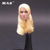 1:6 weibliche Leiter Sculpt Schönheit Mädchen Mittel Team F001 Emily Browning Gold Haar Version Kopf Modell Spielzeug Für Frau Action Figure Körper