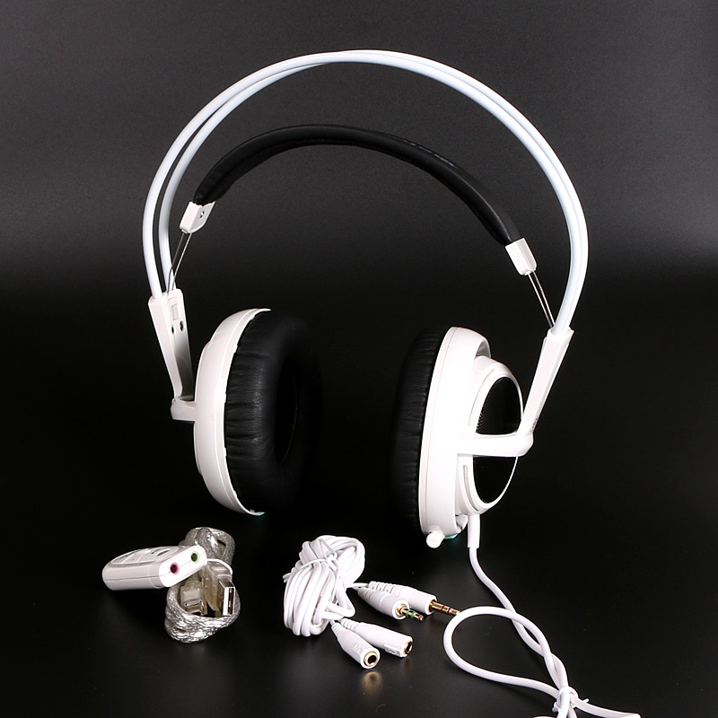 White Color Headset Steelseries Siberia V2 Brand Noise Isolating Game Headphones For Headphone Gamer Extension cord