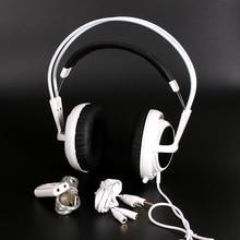 White Color Headset Steelseries Siberia V2 Brand Noise Isolating Game Headphones For Headphone Gamer Extension cord